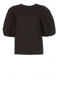 Set |  Cotton top with puff sleeves Rhode | black  | Picture 1