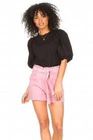 Set |  Cotton top with puff sleeves Rhode | black  | Picture 4