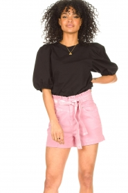 Set |  Cotton top with puff sleeves Rhode | black  | Picture 2