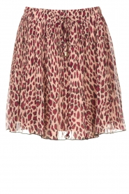 Liu Jo |  Skirt with animal print Lee | pink  | Picture 1