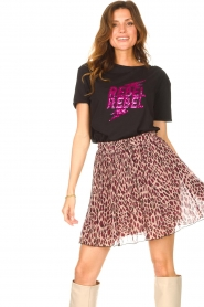 Liu Jo |  Skirt with animal print Lee | pink  | Picture 2