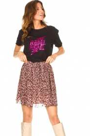 Liu Jo |  Skirt with animal print Lee | pink  | Picture 4