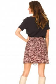 Liu Jo |  Skirt with animal print Lee | pink  | Picture 7