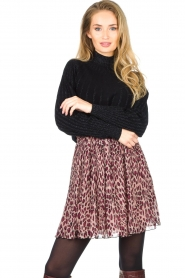 Liu Jo |  Skirt with animal print Lee | pink  | Picture 5