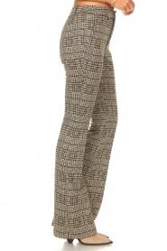 Liu Jo |  Pied-de-poule flared pants | brown   | Picture 5