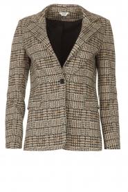Liu Jo |  Checkered blazer Remy | brown  | Picture 1