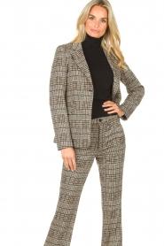 Liu Jo |  Checkered blazer Remy | brown  | Picture 2