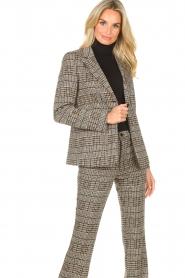 Liu Jo |  Checkered blazer Remy | brown  | Picture 4