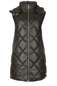 Liu Jo    Faux leather waistcoast Odette   black    Picture 1
