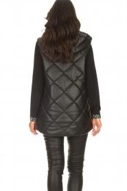 Liu Jo    Faux leather waistcoast Odette   black    Picture 7