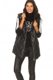 Liu Jo    Faux leather waistcoast Odette   black    Picture 2