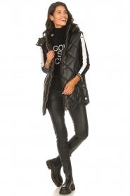 Liu Jo    Faux leather waistcoast Odette   black    Picture 3
