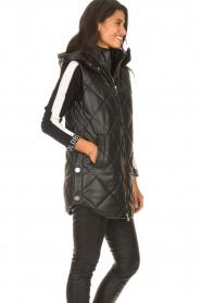 Liu Jo    Faux leather waistcoast Odette   black    Picture 6