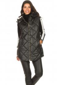 Liu Jo    Faux leather waistcoast Odette   black    Picture 5