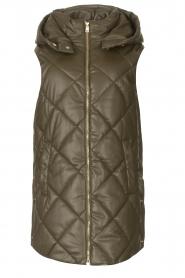 Liu Jo |  Faux leather waistcoast Odette | green  | Picture 1