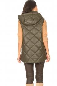 Liu Jo |  Faux leather waistcoast Odette | green  | Picture 7