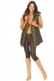 Liu Jo |  Faux leather waistcoast Odette | green  | Picture 3