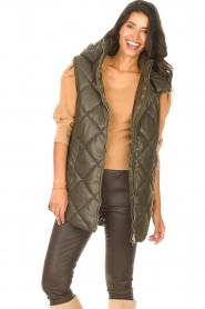 Liu Jo |  Faux leather waistcoast Odette | green  | Picture 2