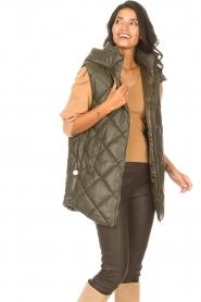 Liu Jo |  Faux leather waistcoast Odette | green  | Picture 4