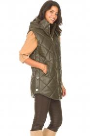 Liu Jo |  Faux leather waistcoast Odette | green  | Picture 6