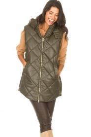 Liu Jo |  Faux leather waistcoast Odette | green  | Picture 5