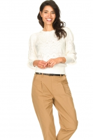 Set |  Openwork sweater Rivka | white  | Picture 2
