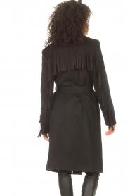Liu Jo |  Woolen coat with fringes Zara | black   | Picture 7