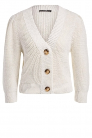 Set |  Knitted cardigan with lurex Inge | natural  | Picture 1