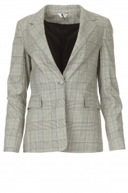 Liu Jo |  Checkered blazer Jamie | grey  | Picture 1