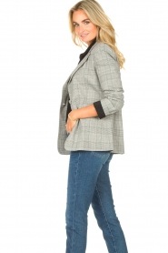 Liu Jo |  Checkered blazer Jamie | grey  | Picture 5