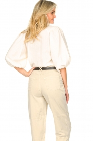 Set    Cupro blouse with puff sleeves Irene   natural    Picture 9