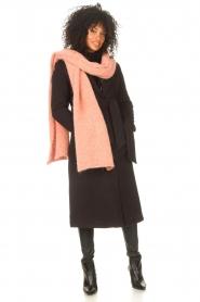 Liu Jo |  Cloak coat with tie waist belt Joy | black  | Picture 3