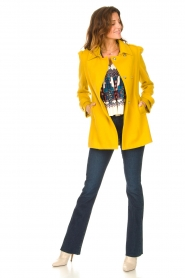Liu Jo |  Coat with button details Sara | yellow  | Picture 3