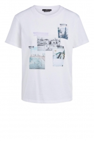 Set |  Cotton T-shirt with print Roos | white  | Picture 1
