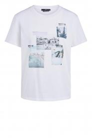 Set | Katoenen T-shirt met opdruk Roos | wit   | Afbeelding 1