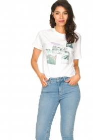 Set |  Cotton T-shirt with print Roos | white  | Picture 2