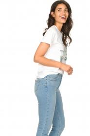 Set | Katoenen T-shirt met opdruk Roos | wit   | Afbeelding 5