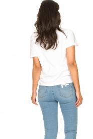 Set | Katoenen T-shirt met opdruk Roos | wit   | Afbeelding 6