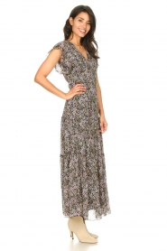 Set |  Floral maxi dress Rose | black  | Picture 5