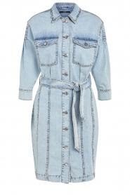 Set |  Denim dress with tie belt Rania | blue   | Picture 1