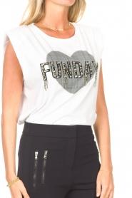 Liu Jo |  Sleeveless cotton T-shirt Emily | white  | Picture 8