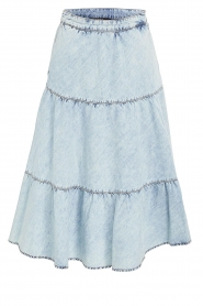 Set |  Denim midi skirt Robin | blue  | Picture 1