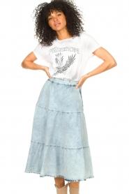 Set |  Denim midi skirt Robin | blue  | Picture 4