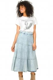 Set |  Denim midi skirt Robin | blue  | Picture 5