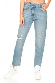 Liu Jo Denim |  Straight leg jeans Maya | blue  | Picture 5