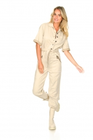 Set |  Utility Lyocell jumpsuit Ilona | natural  | Picture 6