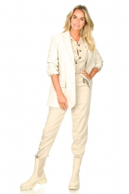 Set |  Utility Lyocell jumpsuit Ilona | natural  | Picture 3