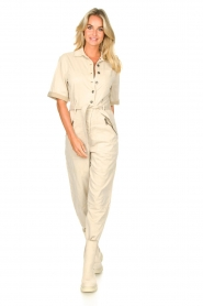 Set |  Utility Lyocell jumpsuit Ilona | natural  | Picture 2