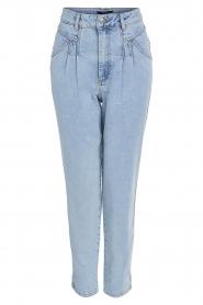 Set | High waist broek Ruby | blauw   | Afbeelding 1