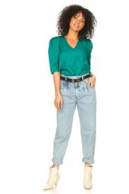 Set | High waist broek Ruby | blauw   | Afbeelding 4